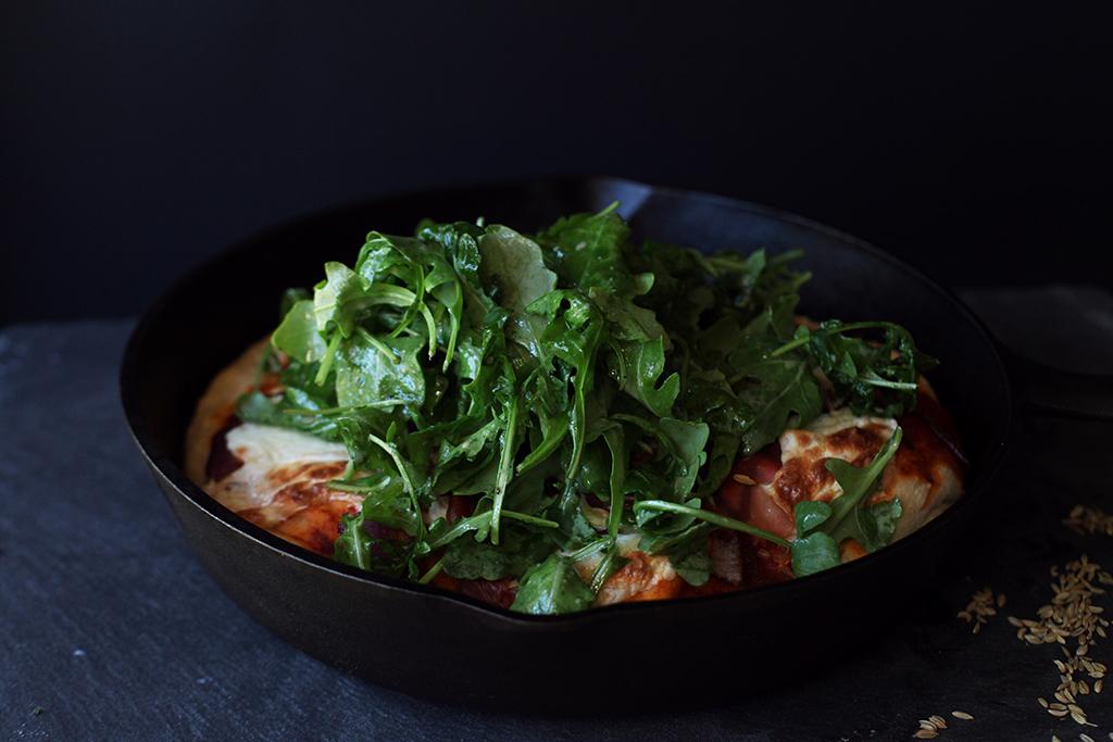 Focaccia Salad Pizza - Tastemaker Blog