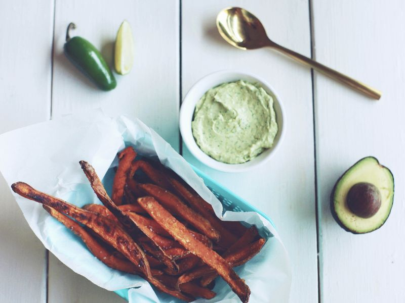 Sweet Potato Fries with Avocado Sauce - Tastemaker Blog