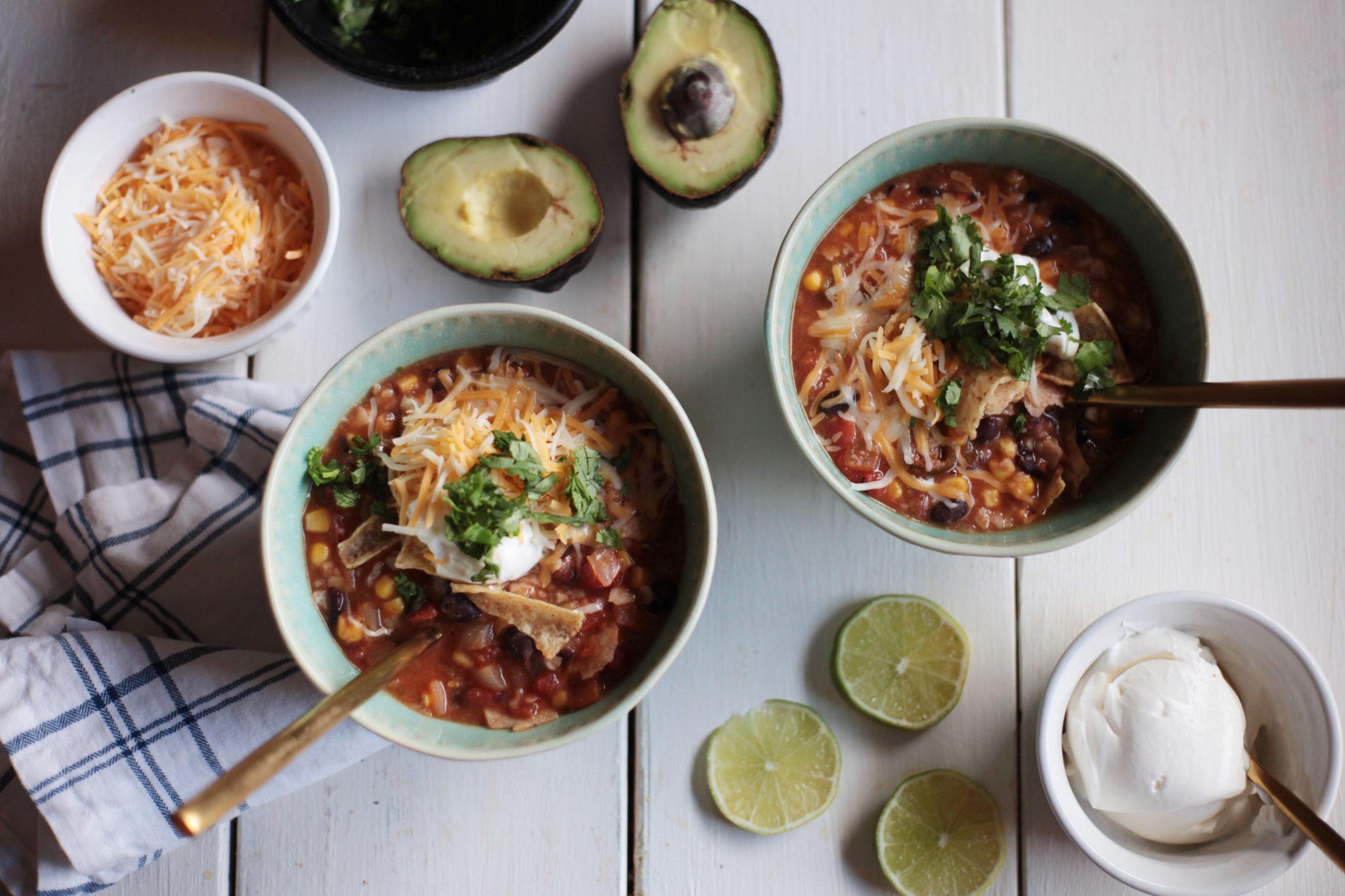 Vegetarian Tortilla Soup - Tastemaker Blog