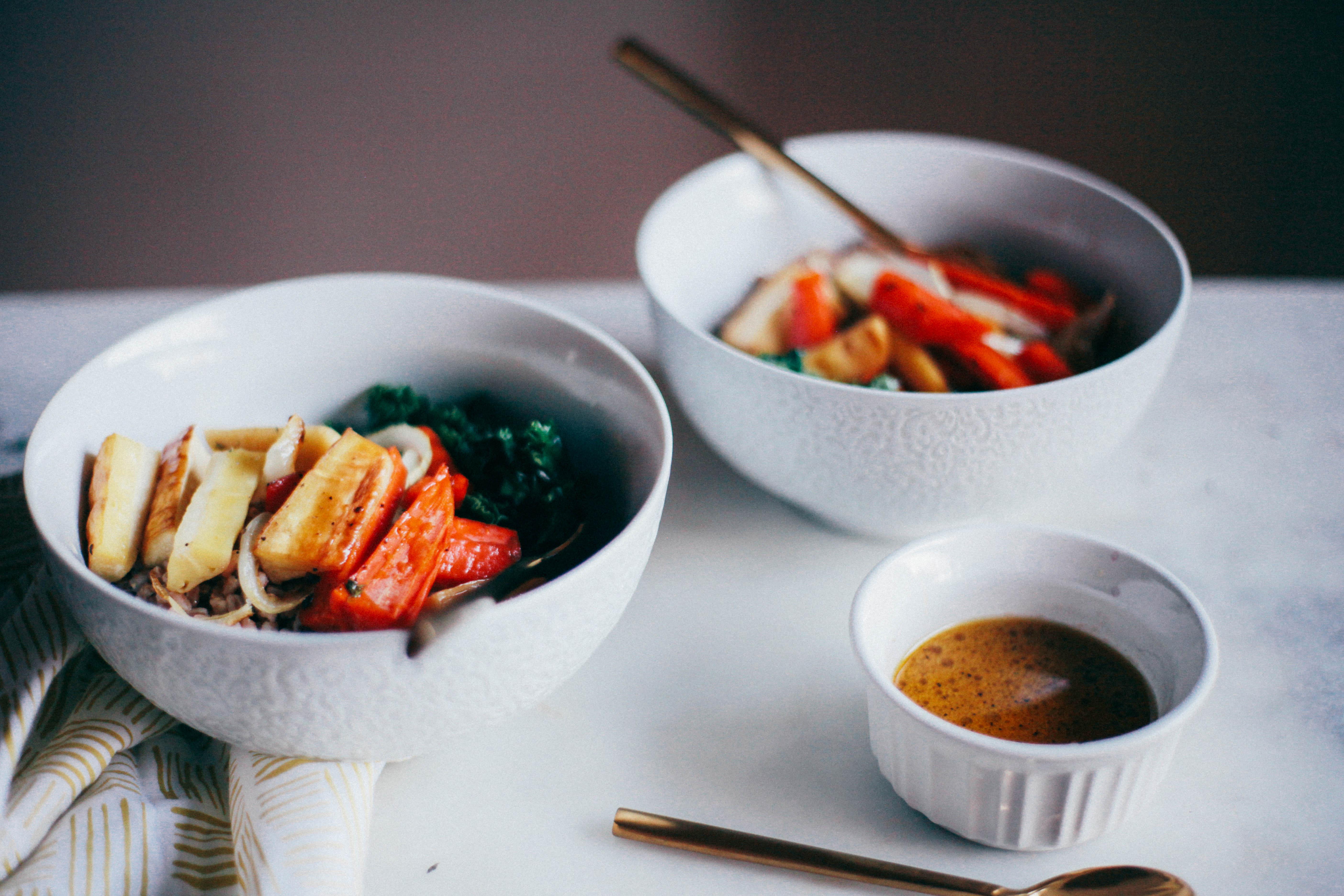 Roasted Root Vegetable Farro Salad - Tastemaker Blog
