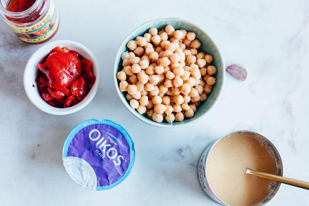 Simple Roasted Red Pepper Hummus - Tastemaker Blog