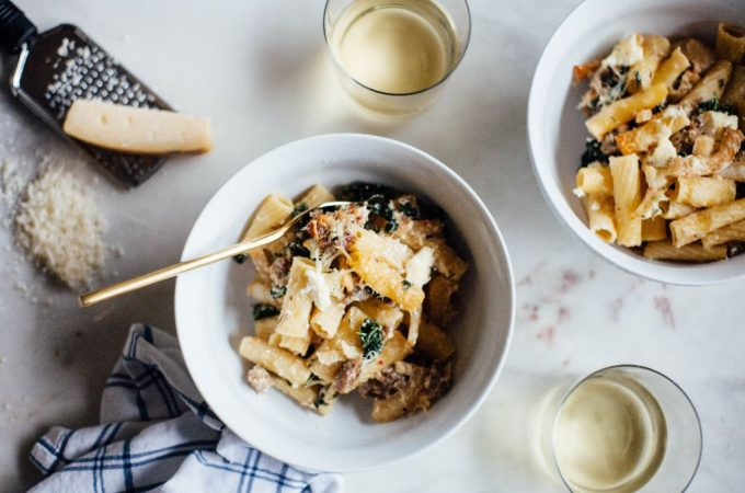 Baked Rigatoni with Sausage, Fennel, and Kale - Tastemaker Blog