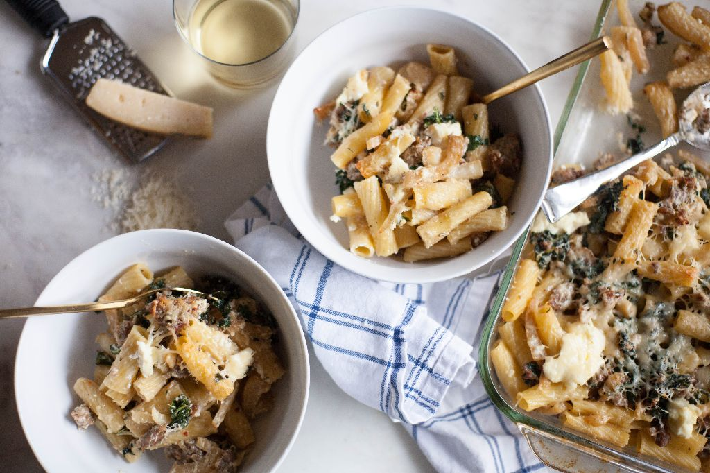 Baked Rigatoni with Sausage, Fennel, and Kale - Tastemaker Blog