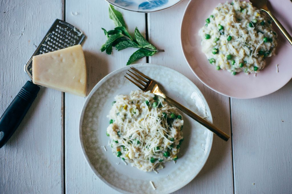 Spring Risotto with Leeks and Goat Cheese- Tastemaker Blog
