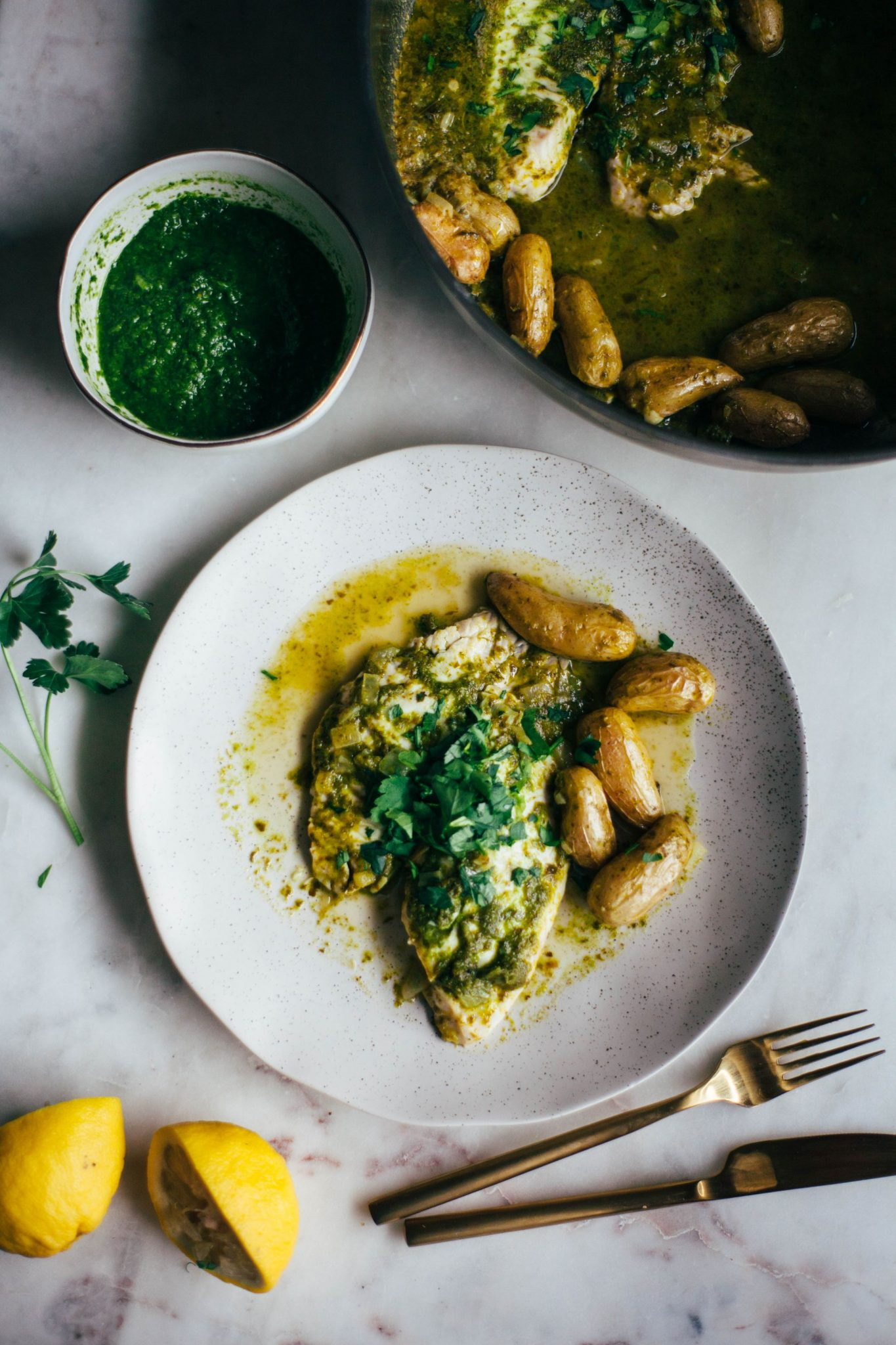 Herb Braised Tilapia - Tastemaker Blog