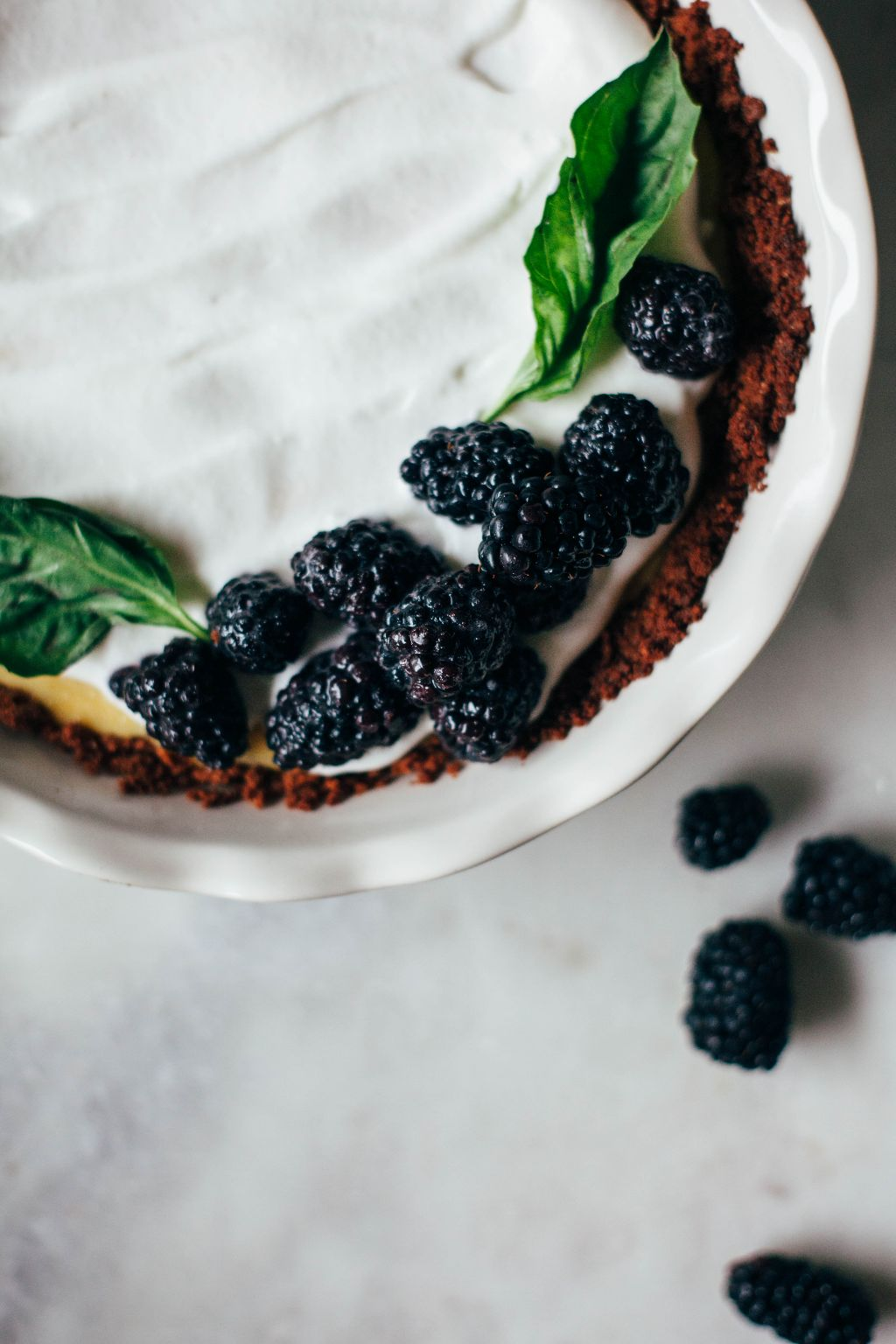 Lemon Pie with Sugared Blackberries - Tastemaker Blog
