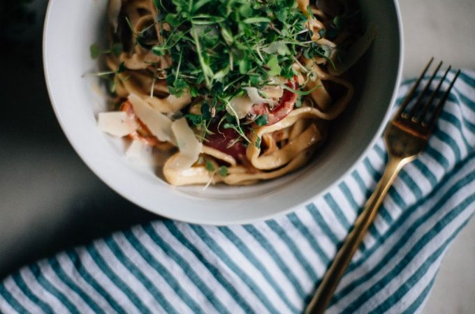 Mushroom and Mascarpone Fettucine Alfredo - Tastemaker Blog