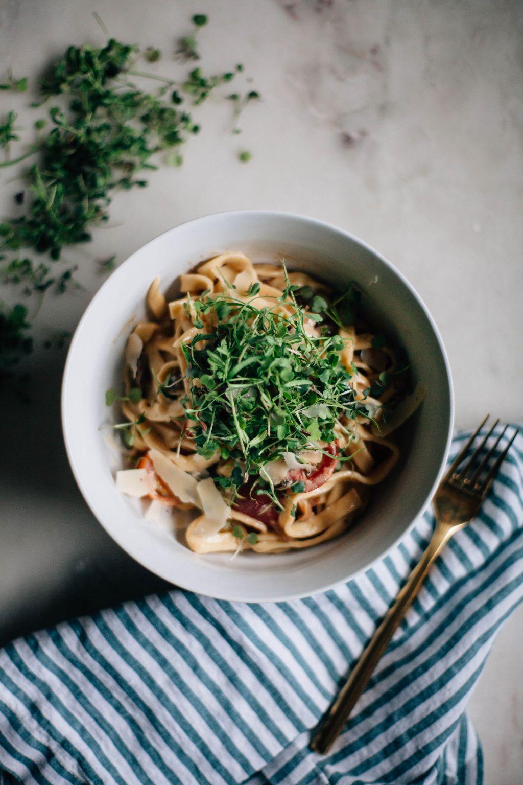 Mushroom and Mascarpone Fettucine Alfredo - Tastemaker Blog