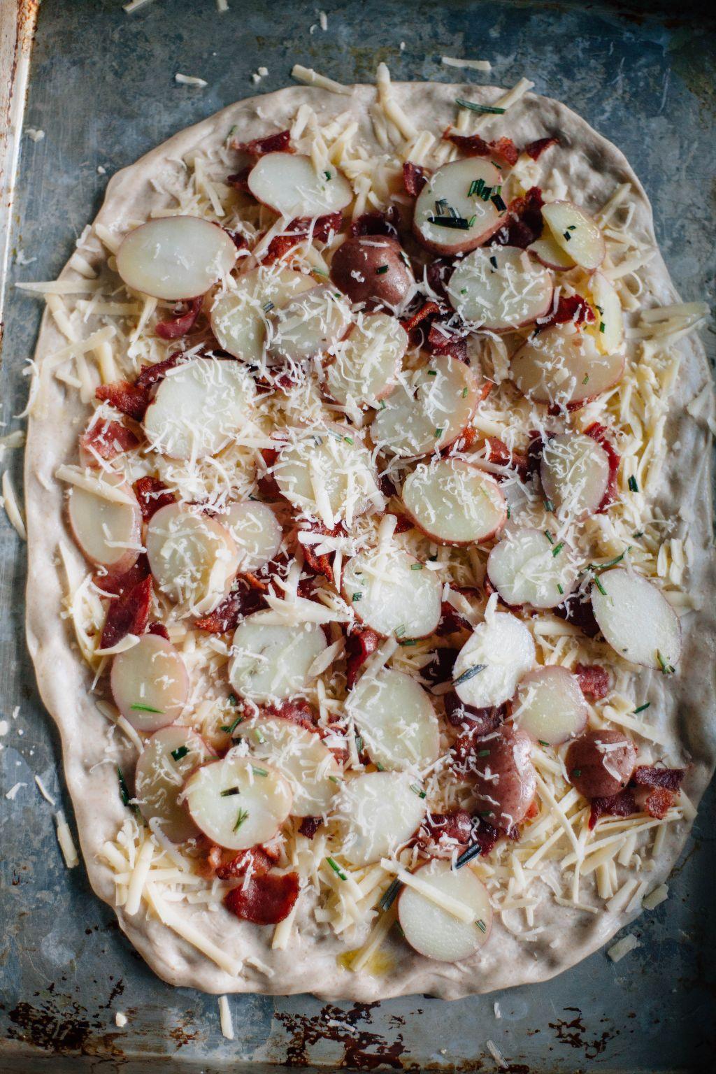 Sourdough Potato Skin Pizza - Tastemaker Blog