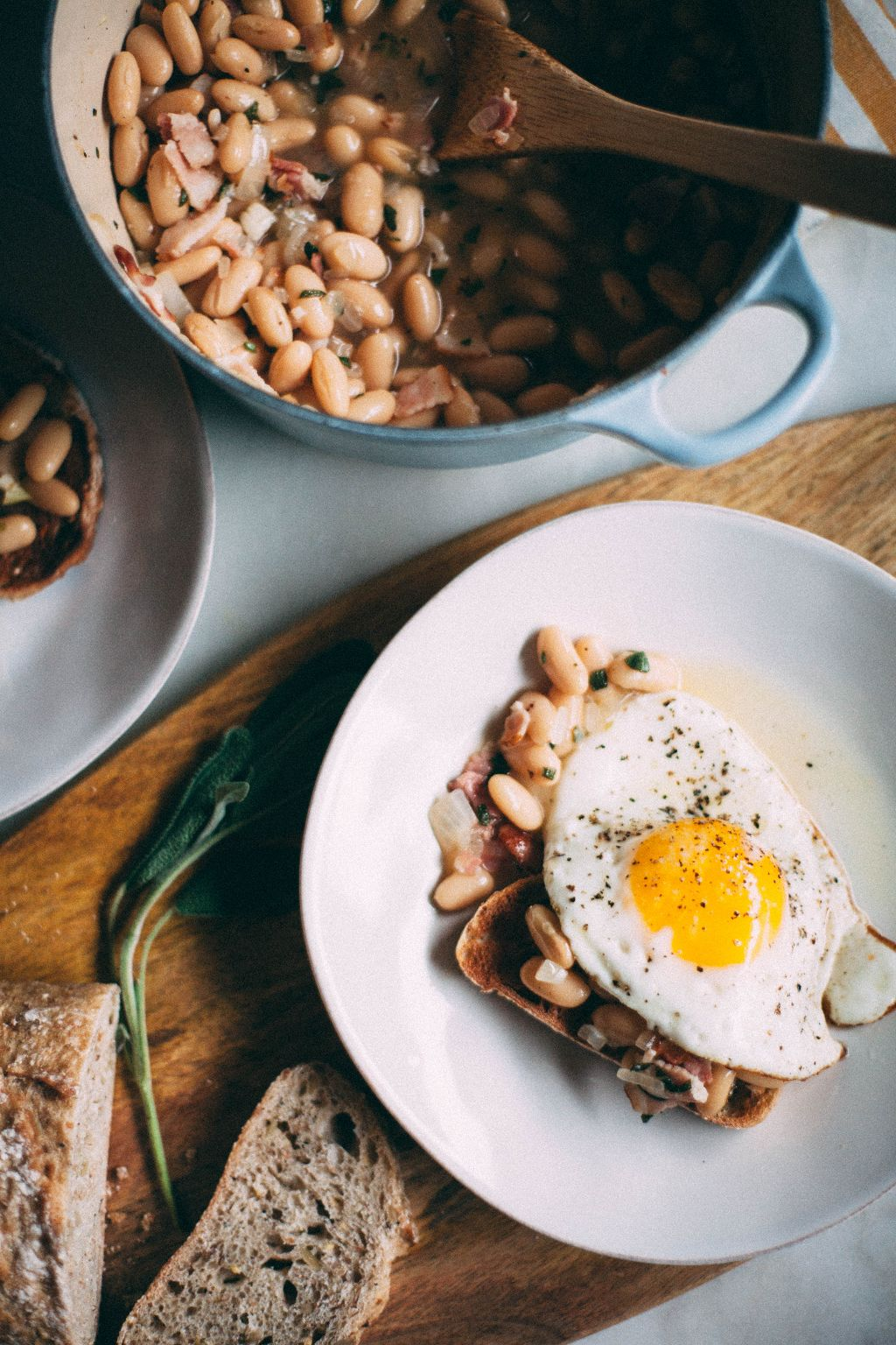 White Beans with Sage on Toast - Tastemaker Blog