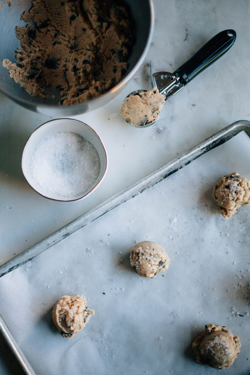 Giant Salted Dark Chocolate Chunk Cookies - Tastemaker Blog