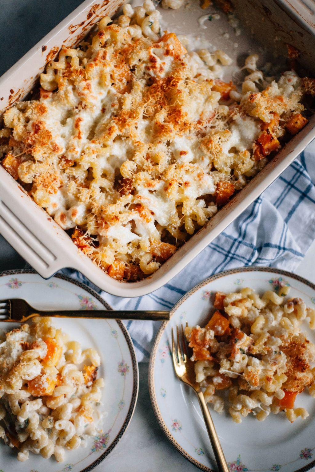 Baked Butternut Squash Cavatappi - Tastemaker Blog