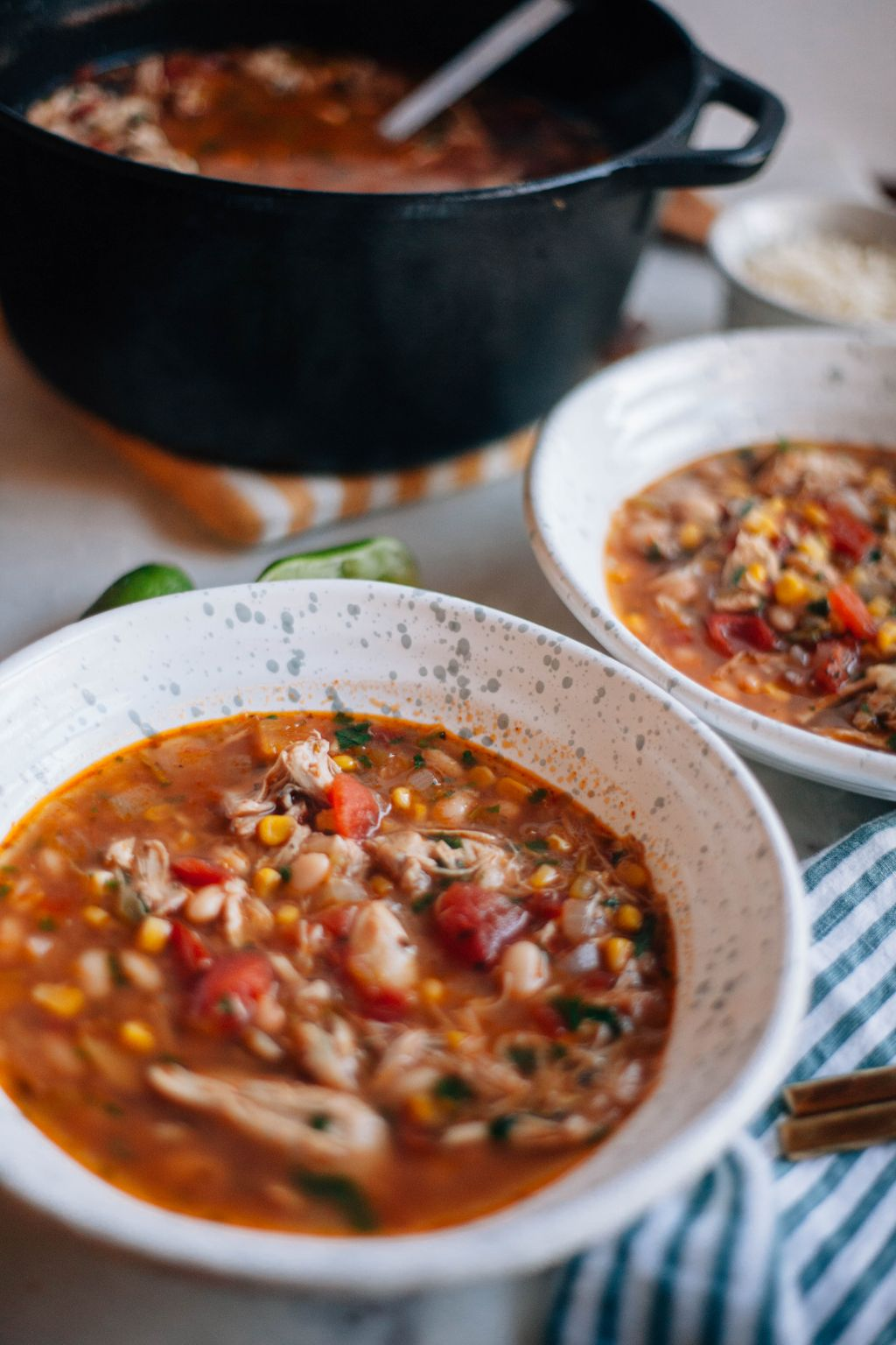 Leftover Turkey White Chili - Tastemaker Blog