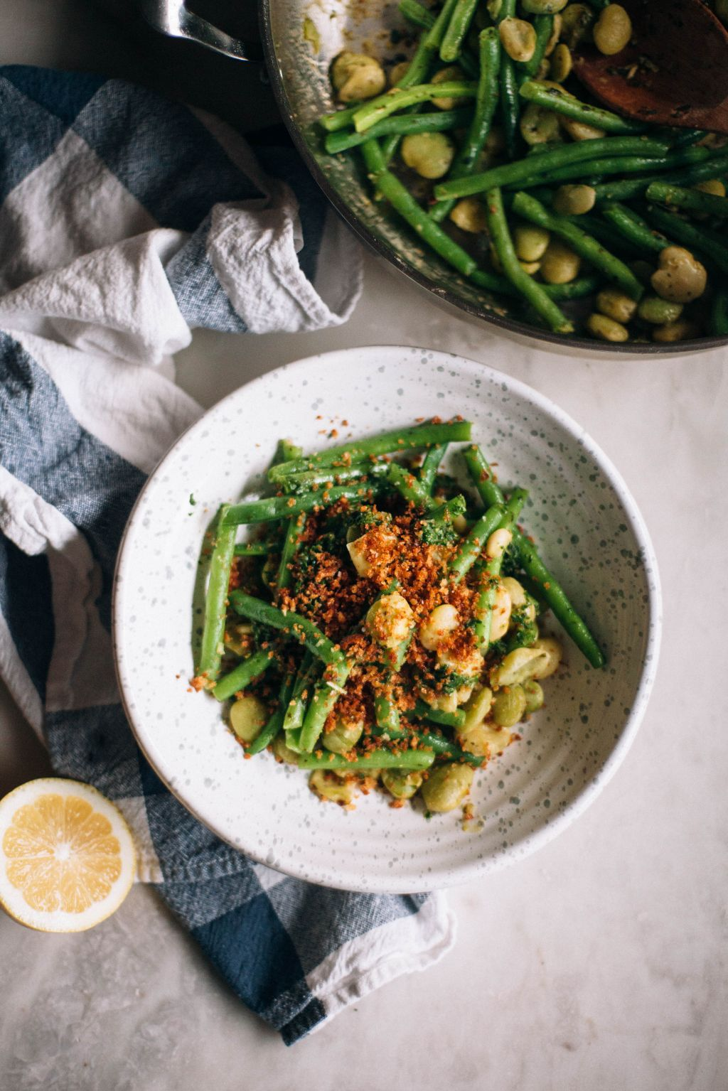 Herbed Butterbeans with Crispy Breadcrumbs - Tastemaker Blog