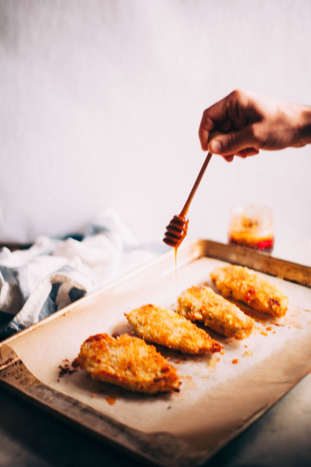 Oven-Fried Chicken with Spicy Honey - Tastemaker Blog