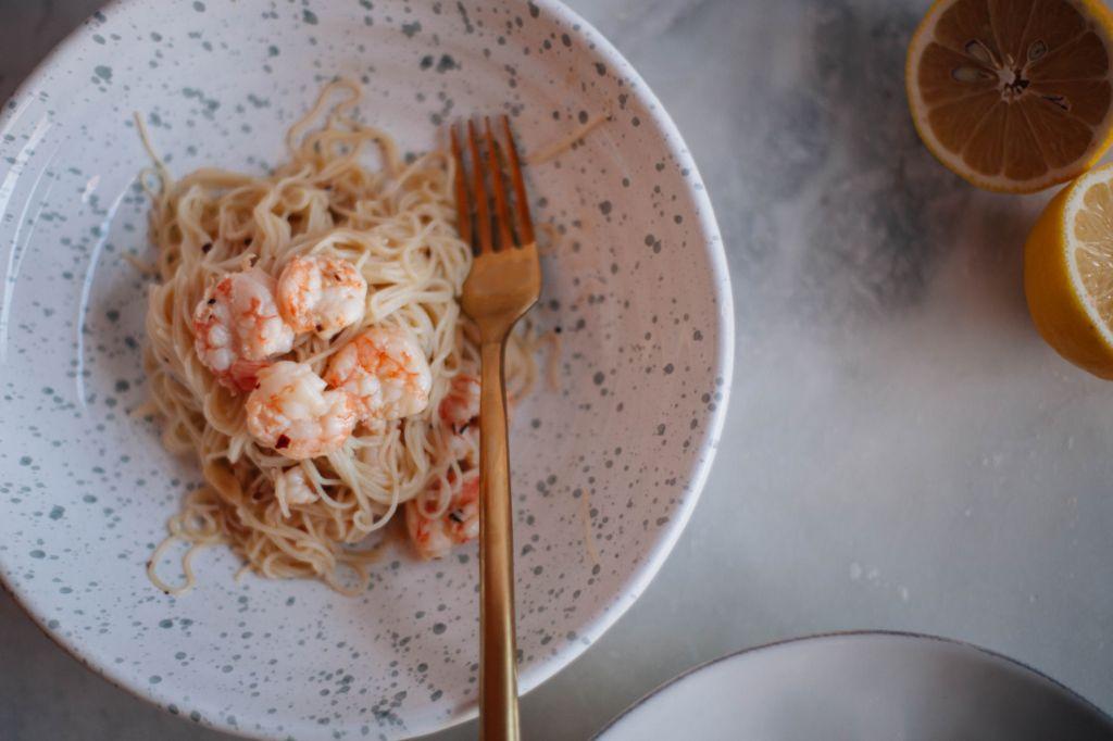 Shrimp Scampi with Angel Hair - Tastemaker Blog
