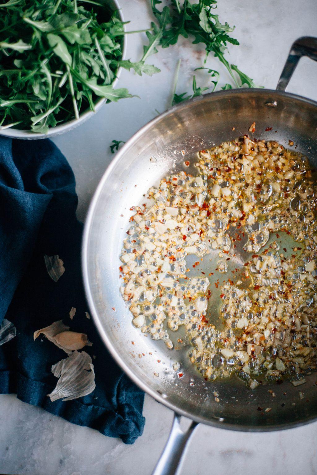 Angel Hair with Arugula and Toasted Pine Nuts - Tastemaker Blog