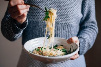 Angel Hair with Arugula and Toasted Pine Nuts - Tastemaker Blog