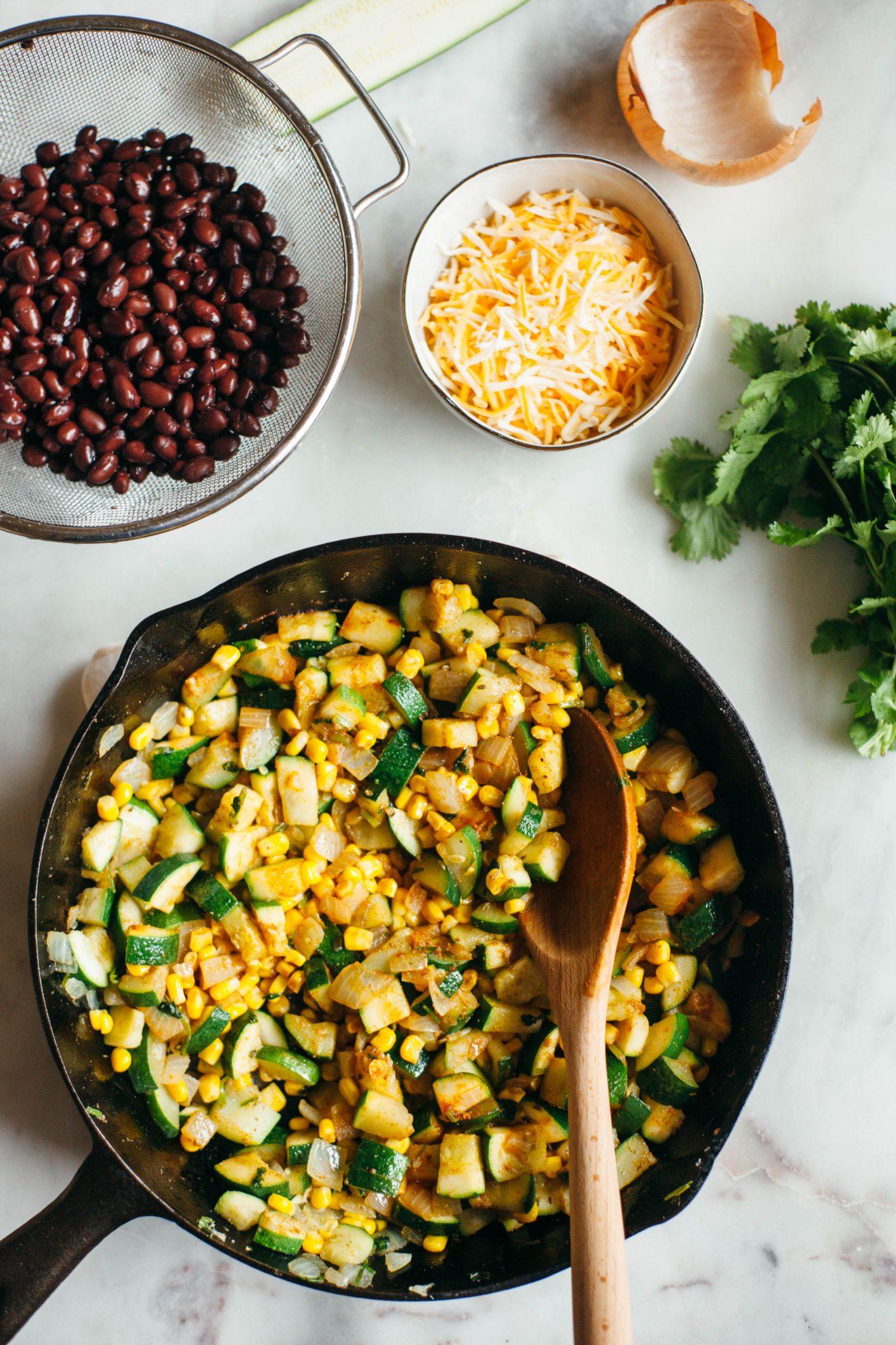 Zucchini Corn Enchiladas - Tastemaker Blog