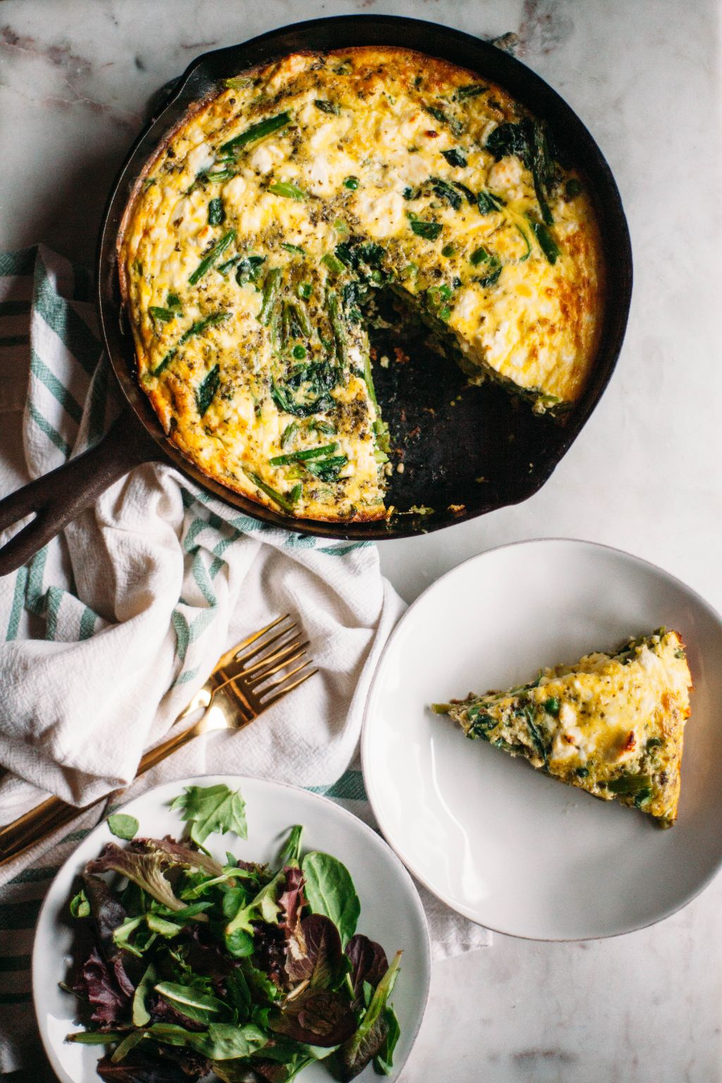 Spring Vegetable Frittata- Tastemaker Blog