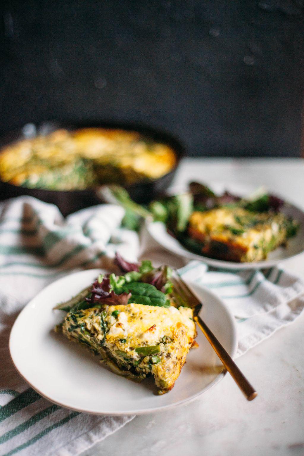 Spring Vegetable Frittata- Tastemaker Blog