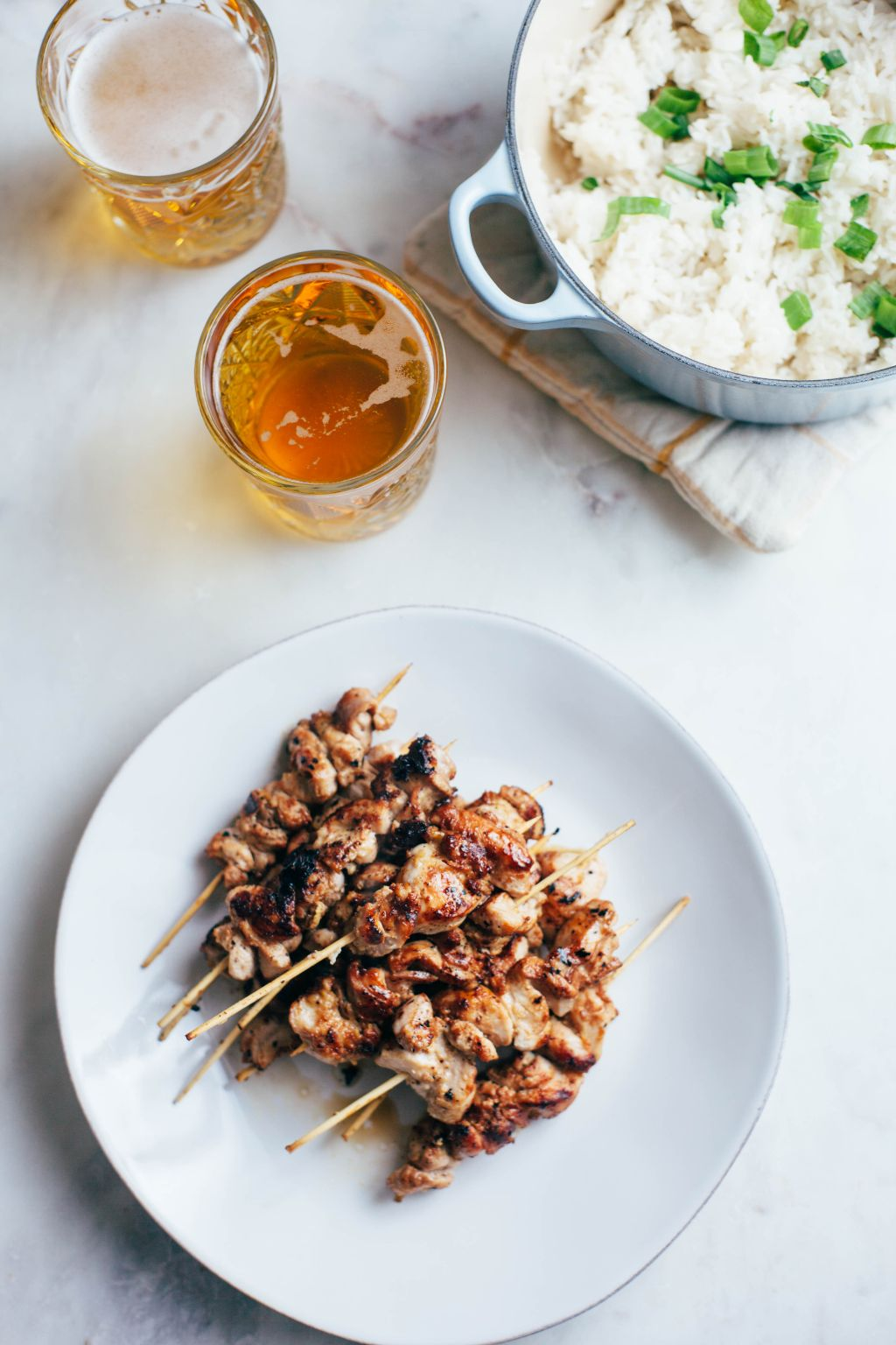 Yakitori Chicken with Coconut Rice - Tastemaker Blog
