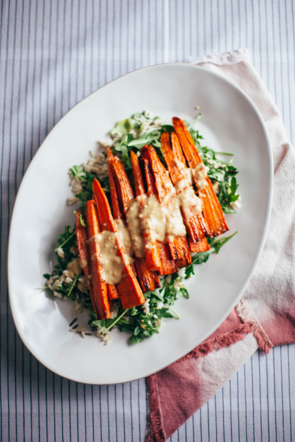 Roasted Carrot Tahini Salad - Tastemaker Blog