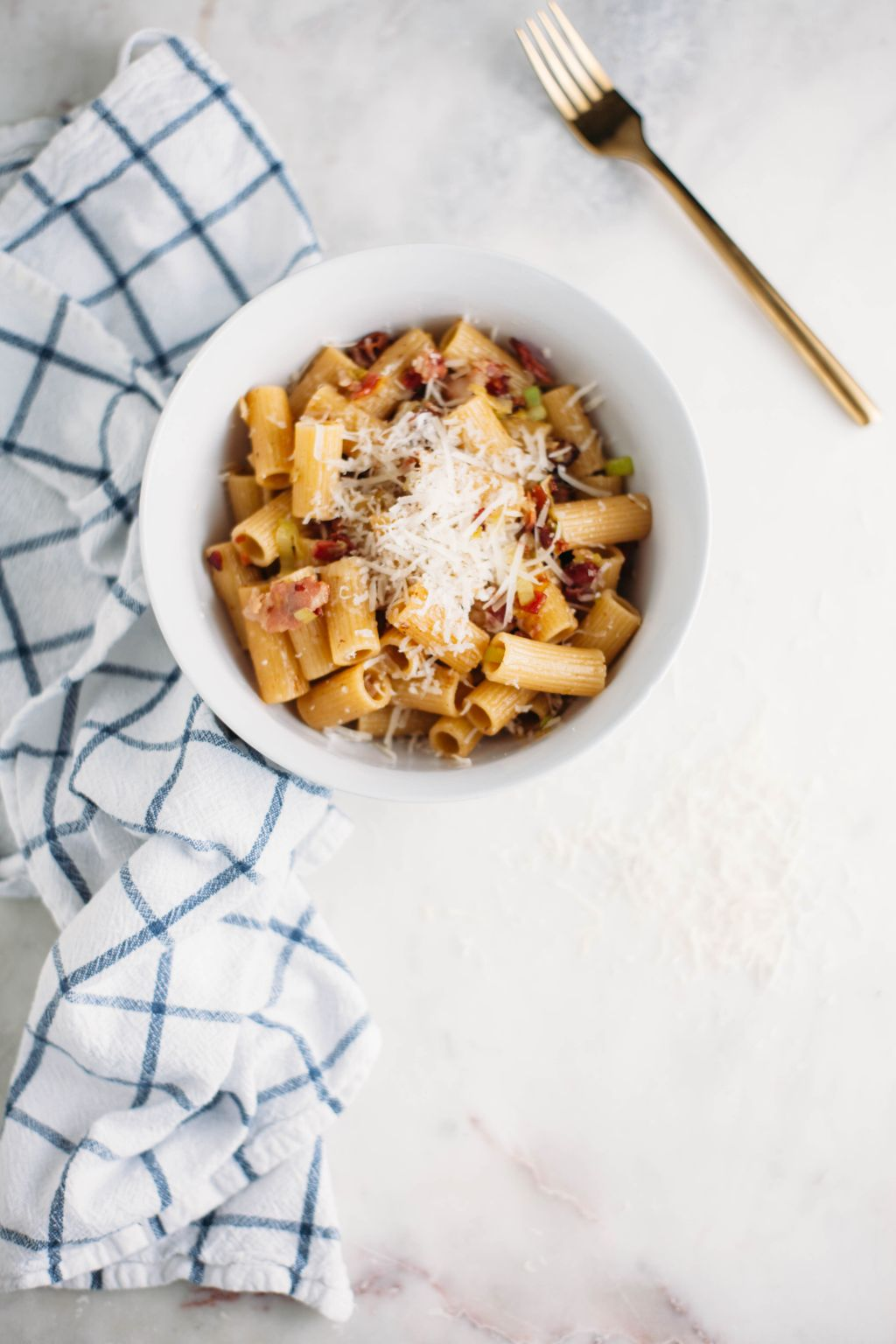 Rigatoni with Leeks and Bacon - Tastemaker Blog