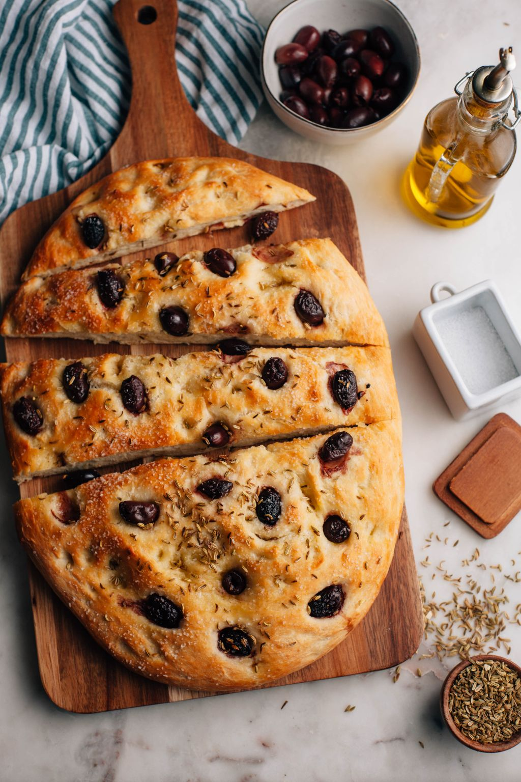 Olive and Fennel Focaccia - Tastemaker Blog
