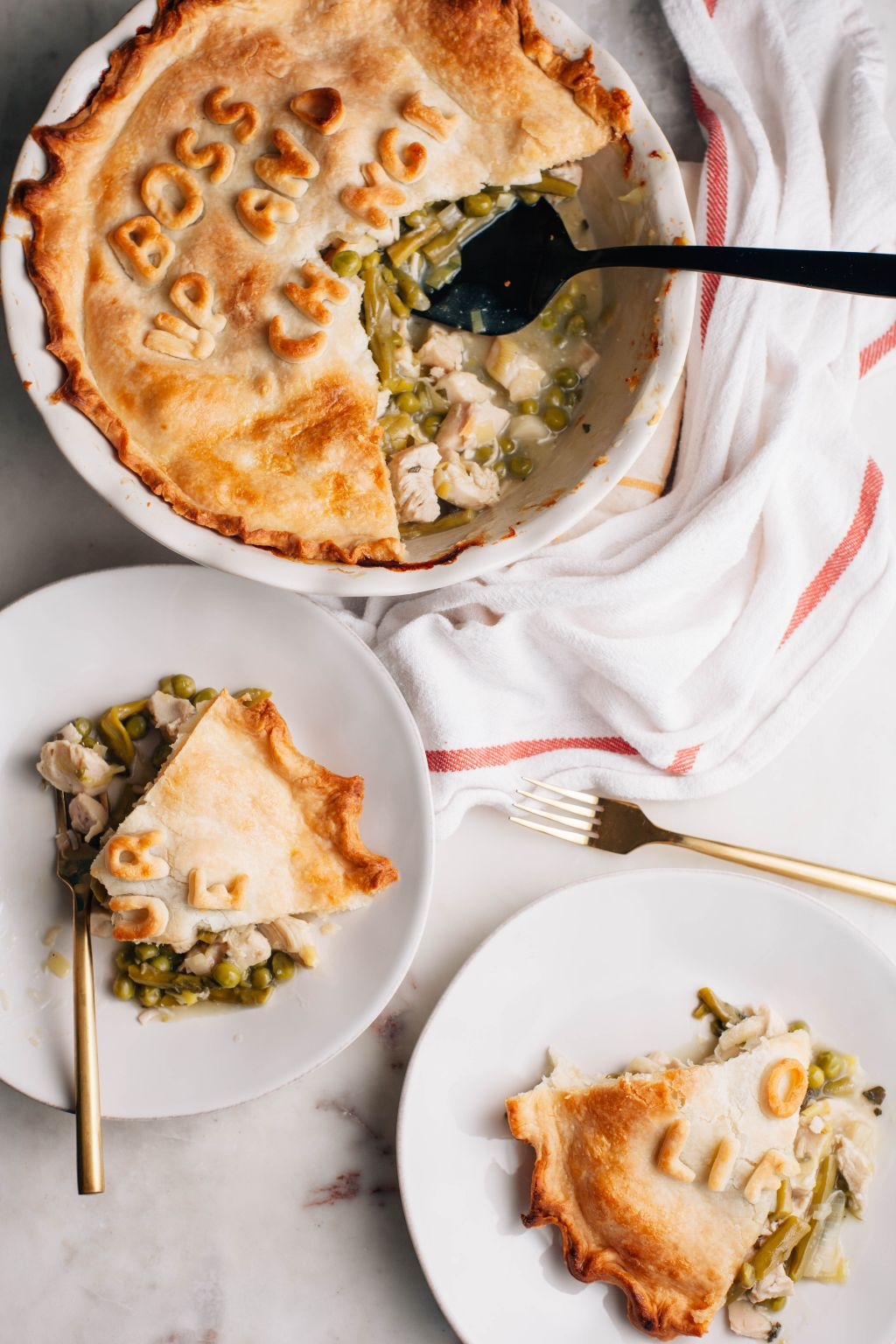 Spring Vegetable Chicken Pot Pie - Tastemaker Blog