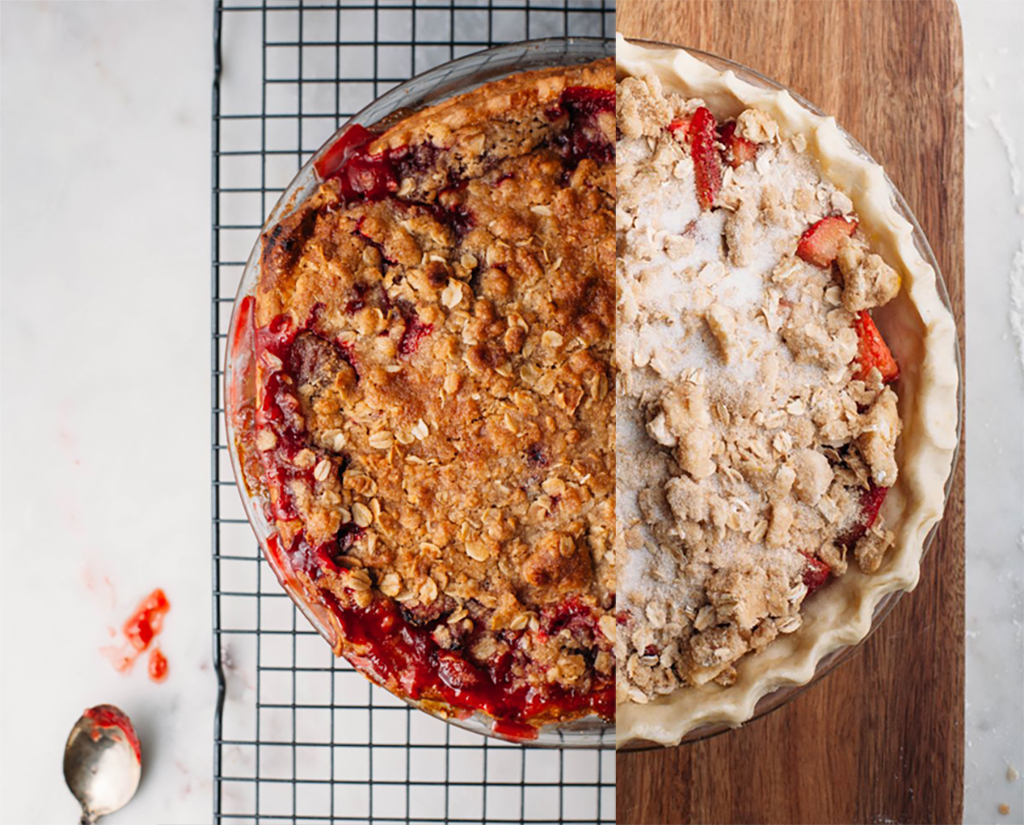 Strawberry Crumble Pie - Tastemaker Blog