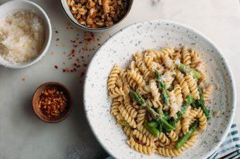Genius Asparagus Boursin Pasta - Tastemaker Blog
