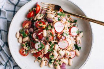 White Bean and Farro Salad - Tastemaker Blog