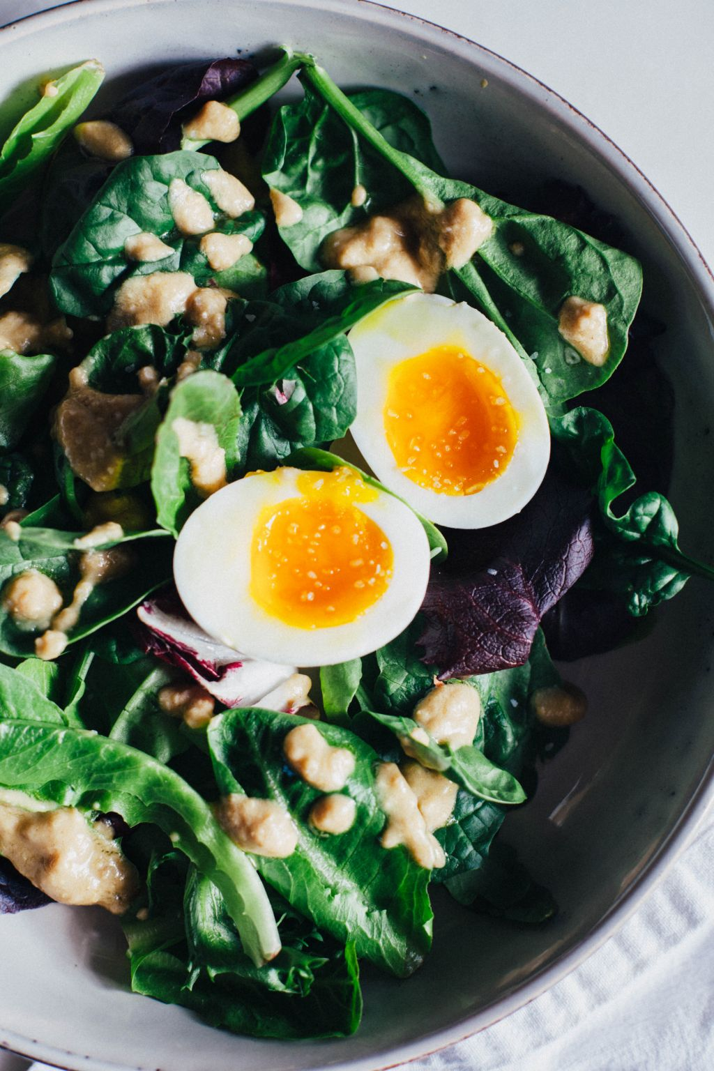 Tahini Breakfast Salad - Tastemaker Blog