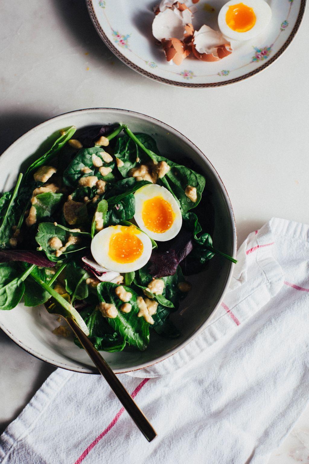 Tahini Breakfast Salad - Tastemaker Blog