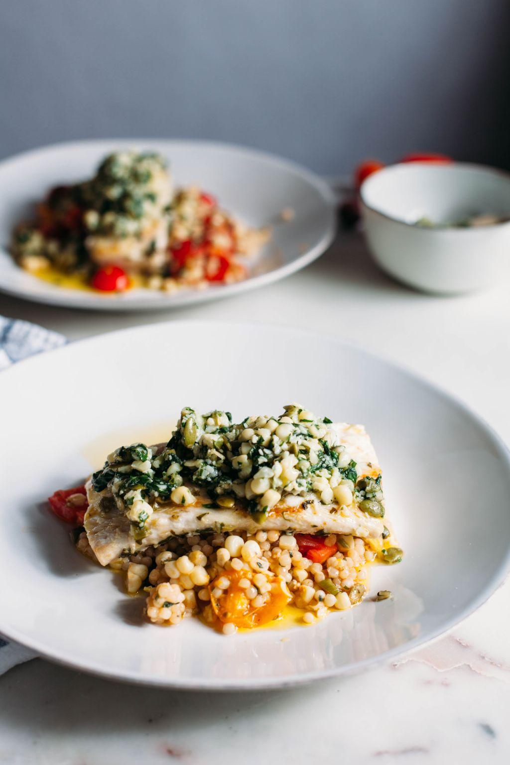 Mahi Mahi with Sweet Corn Pesto - Tastemaker Blog