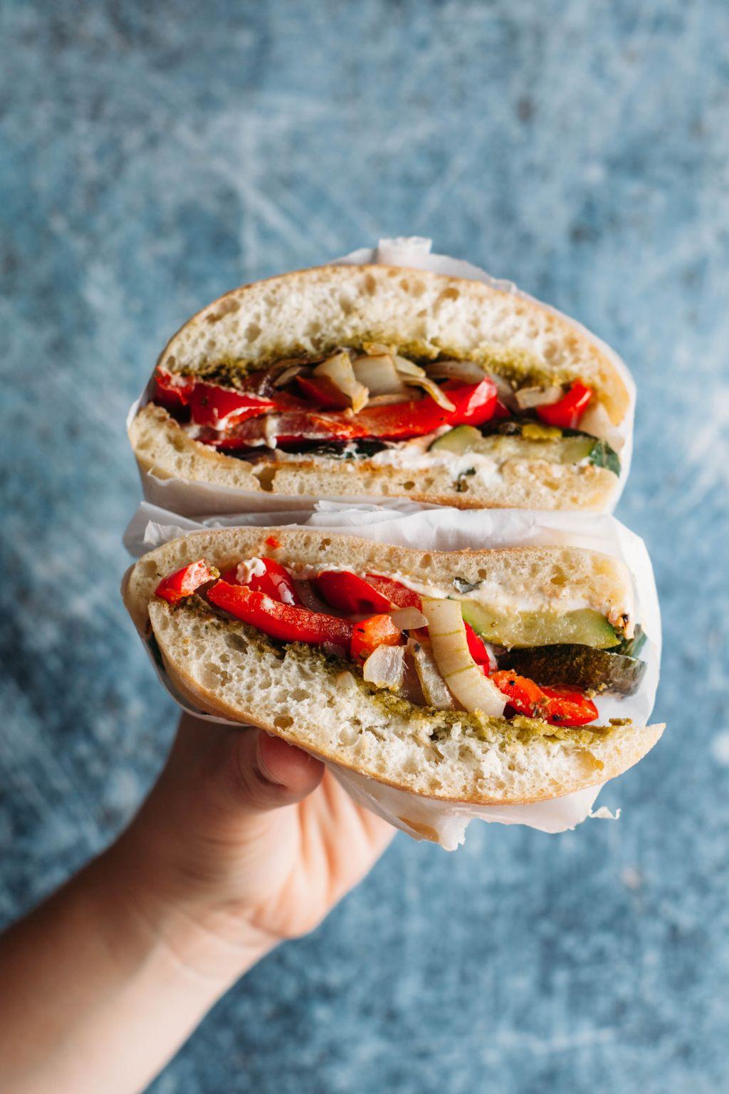 Roasted Vegetable Sandwich - Tastemaker Blog