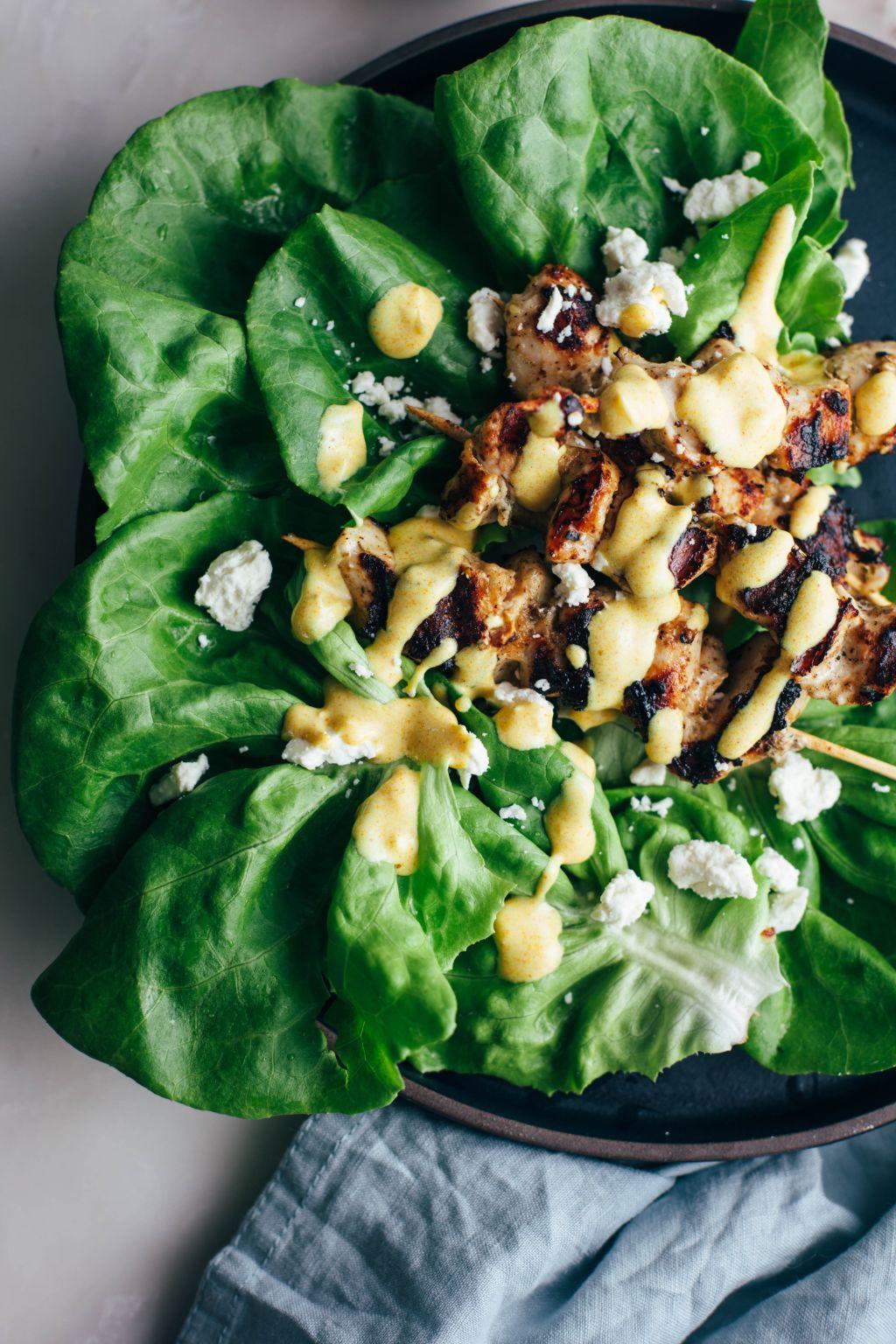Mediterranean Chicken Lettuce Wraps - Tastemaker Blog