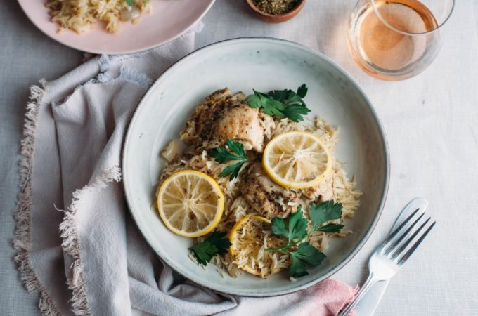 One Pot Lemon Chicken and Rice - Tastemaker Blog