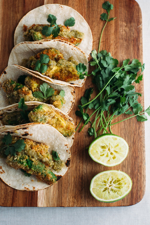 Fried Avocado Tacos - Tastemaker Blog