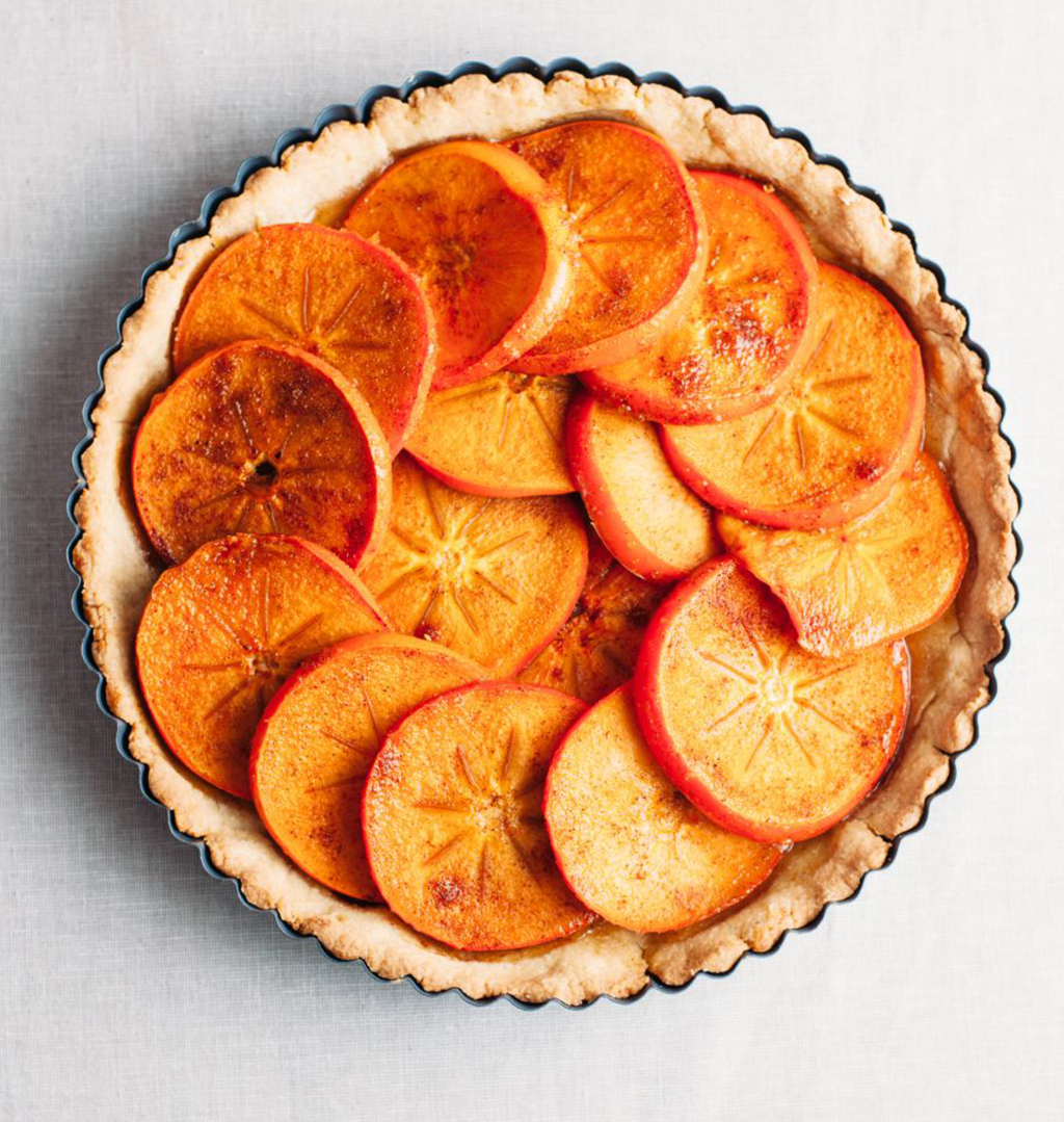 Persimmon Tart with Tender Cornmeal Crust - Tastemaker Blog