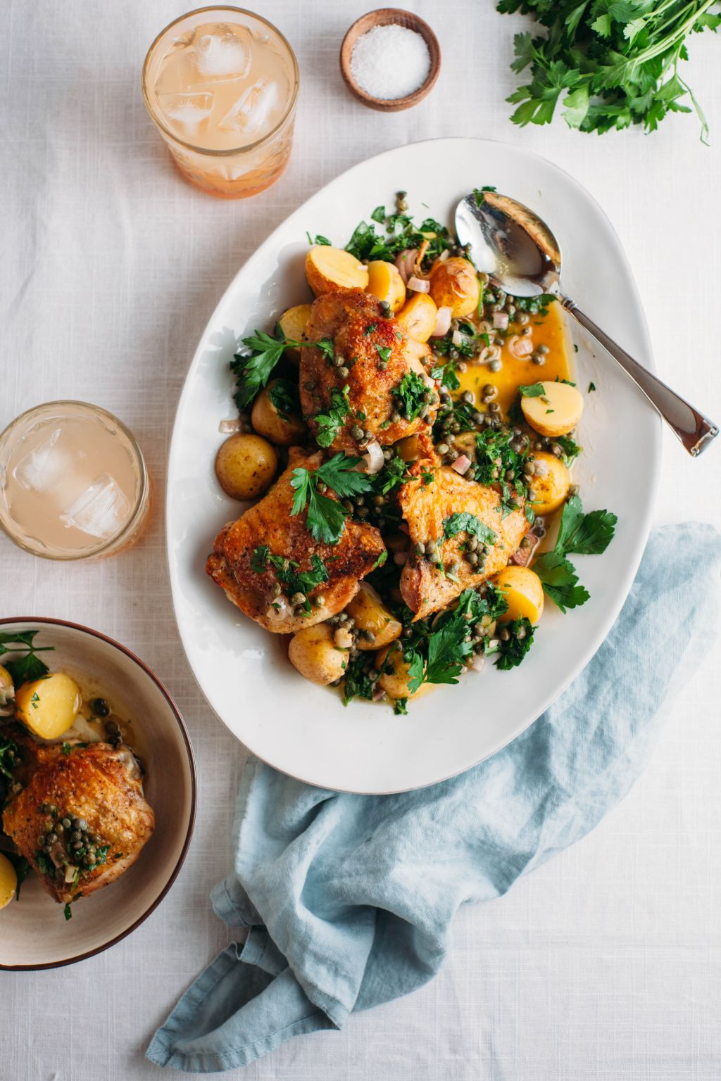 Salt and Vinegar Chicken and Potatoes - Tastemaker Blog