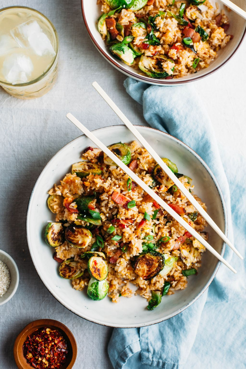 Bacon and Brussels Sprouts Fried Rice - Tastemaker Blog