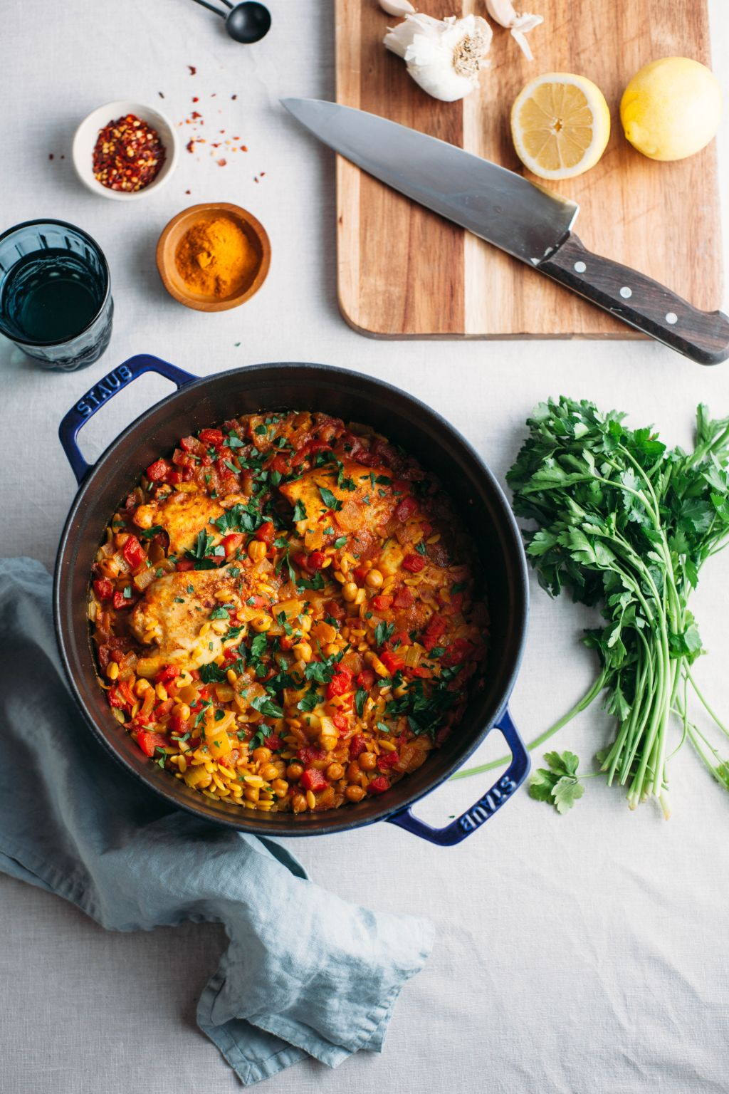 One Pot Moroccan Chicken and Orzo - Tastemaker Blog