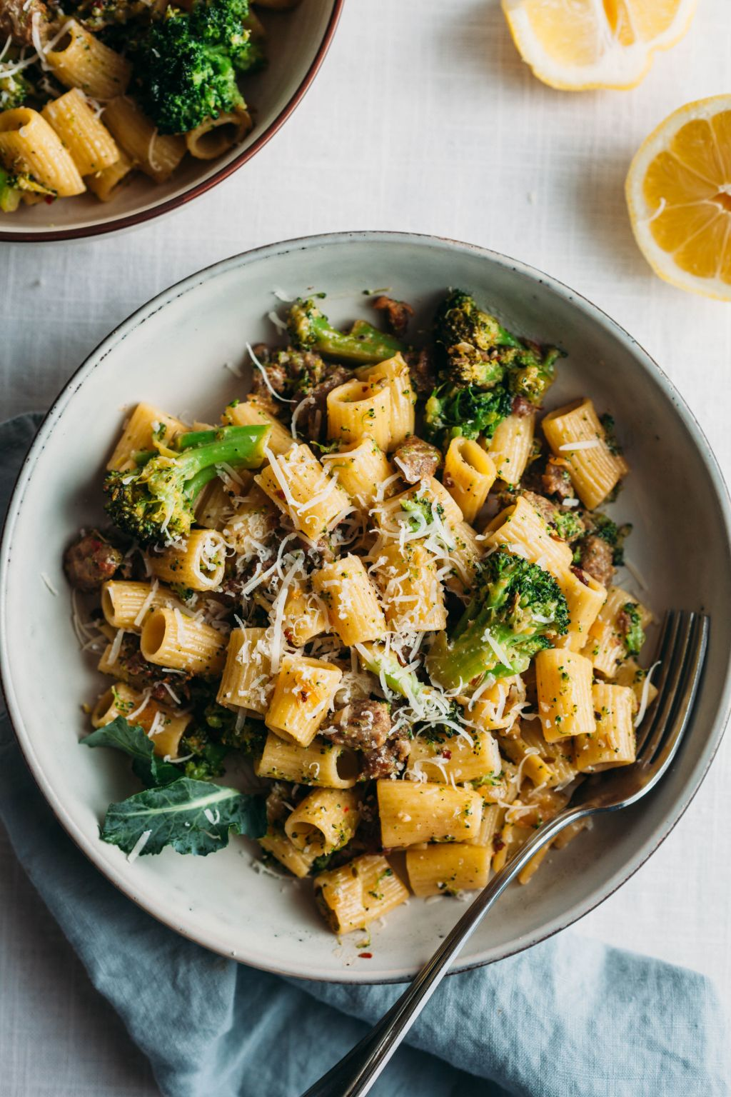 Rigatoni with Broccoli, Lemon, and Sausage - Tastemaker Blog