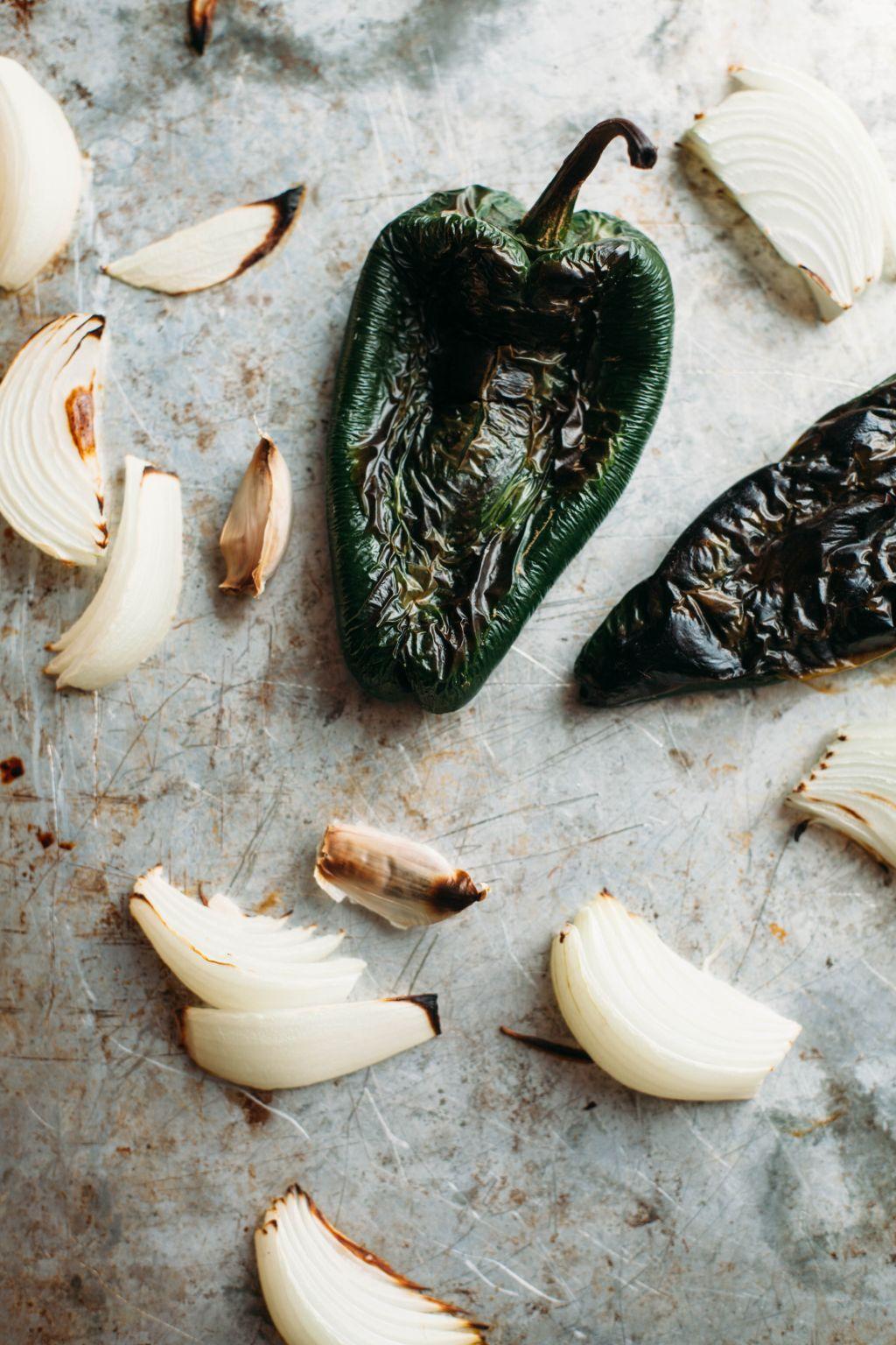 Fried Mushroom Tacos with Roasted Poblano Sauce - Tastemaker Blog