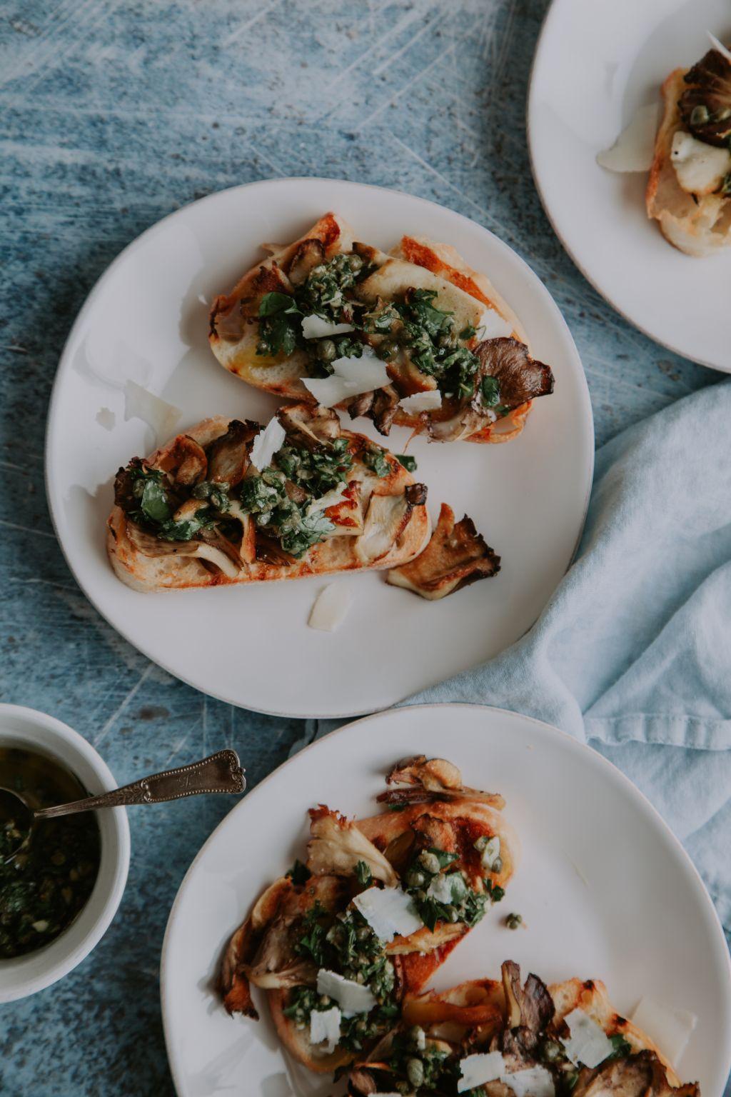Maitake Mushroom Toast with Gremolata - Tastemaker Blog