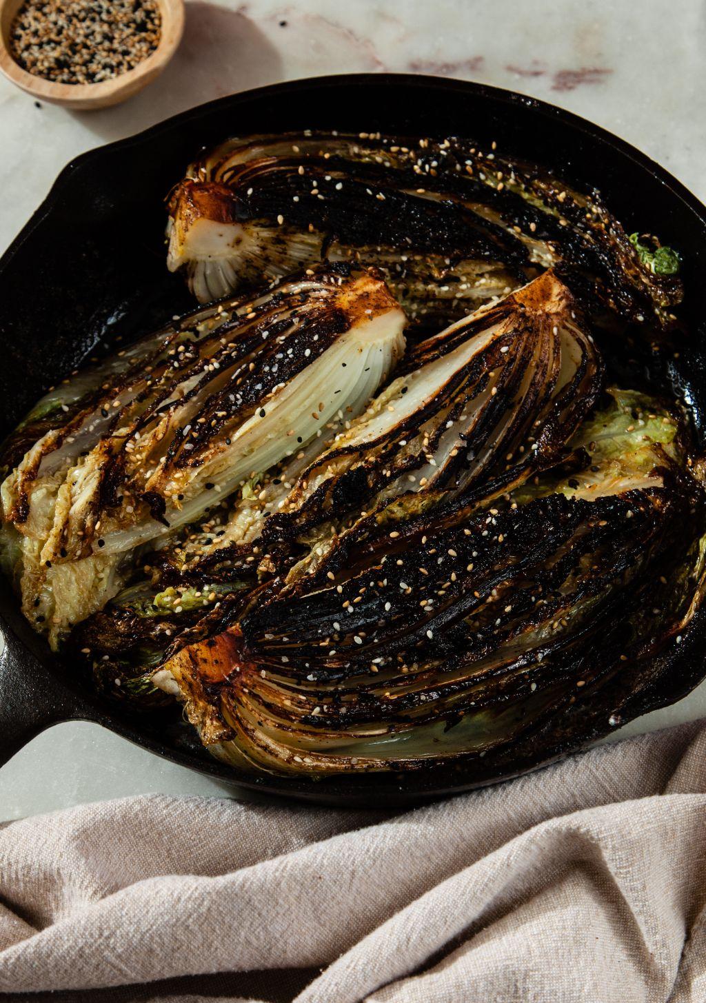 Blackened Cabbage with Miso Butter - Tastemaker Blog