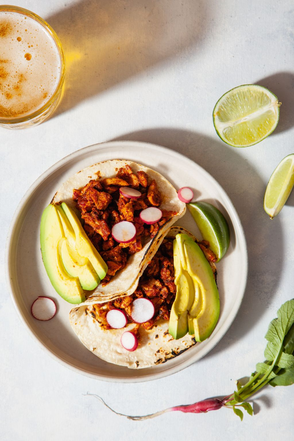 Chicken Tacos with Guajillo Sauce - Tastemaker Blog